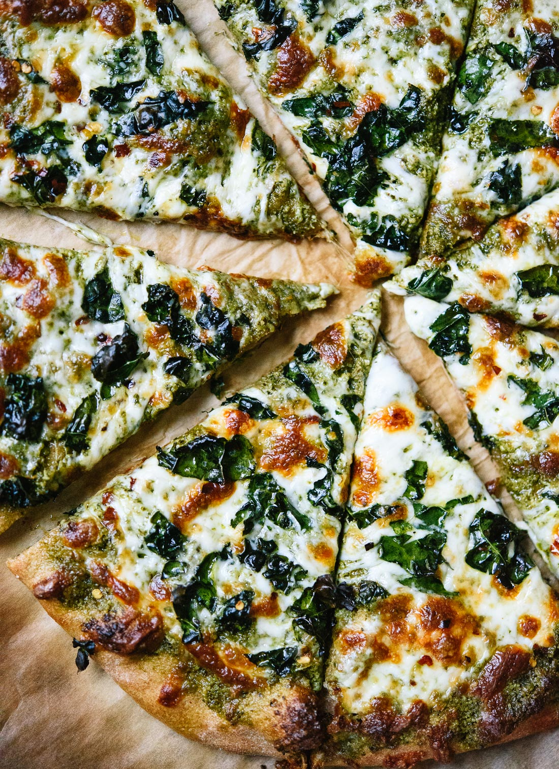 Kale Pesto Pizza