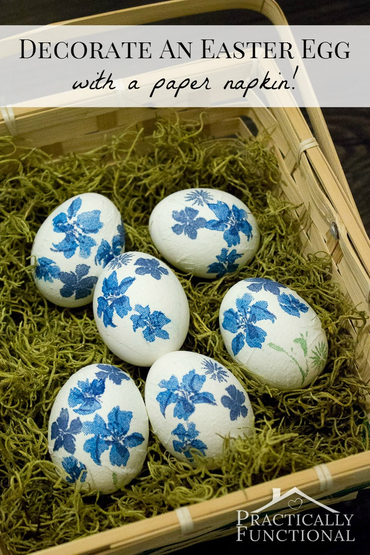 HOW TO USE PAPER NAPKINS DECORATE EASTER EGGS