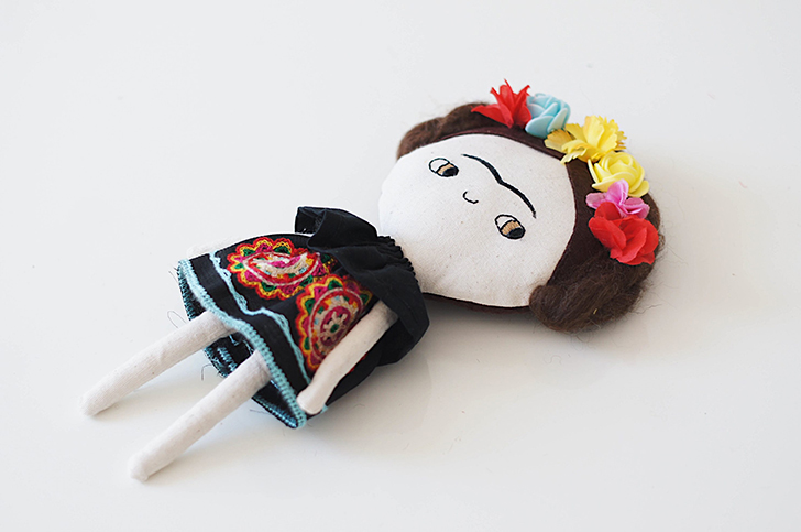 Frida Kahlo Doll by Lelerele